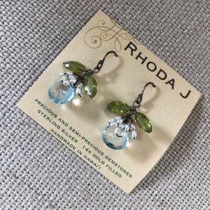 Accessories - Rhoda J flower stone earrings